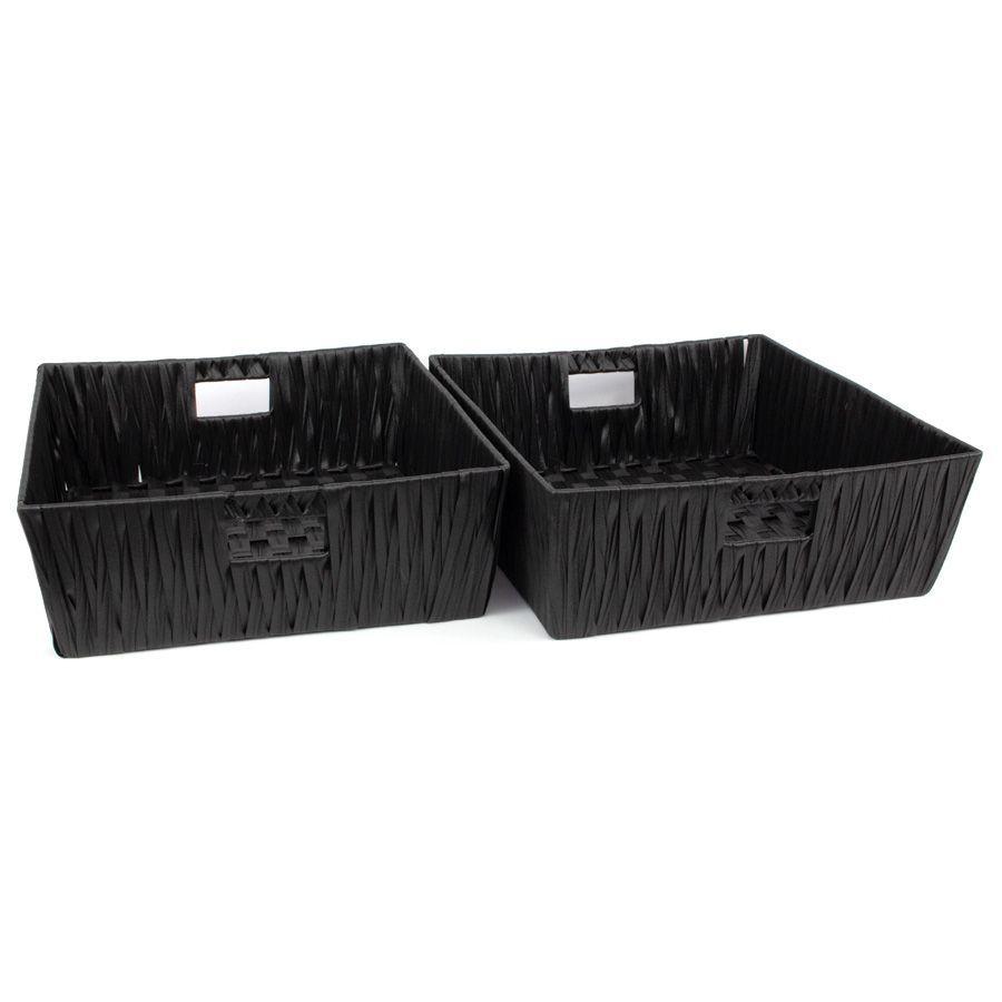 Aspen Storage Basket Black - Set of 2 | Storage | Home Storage & Living