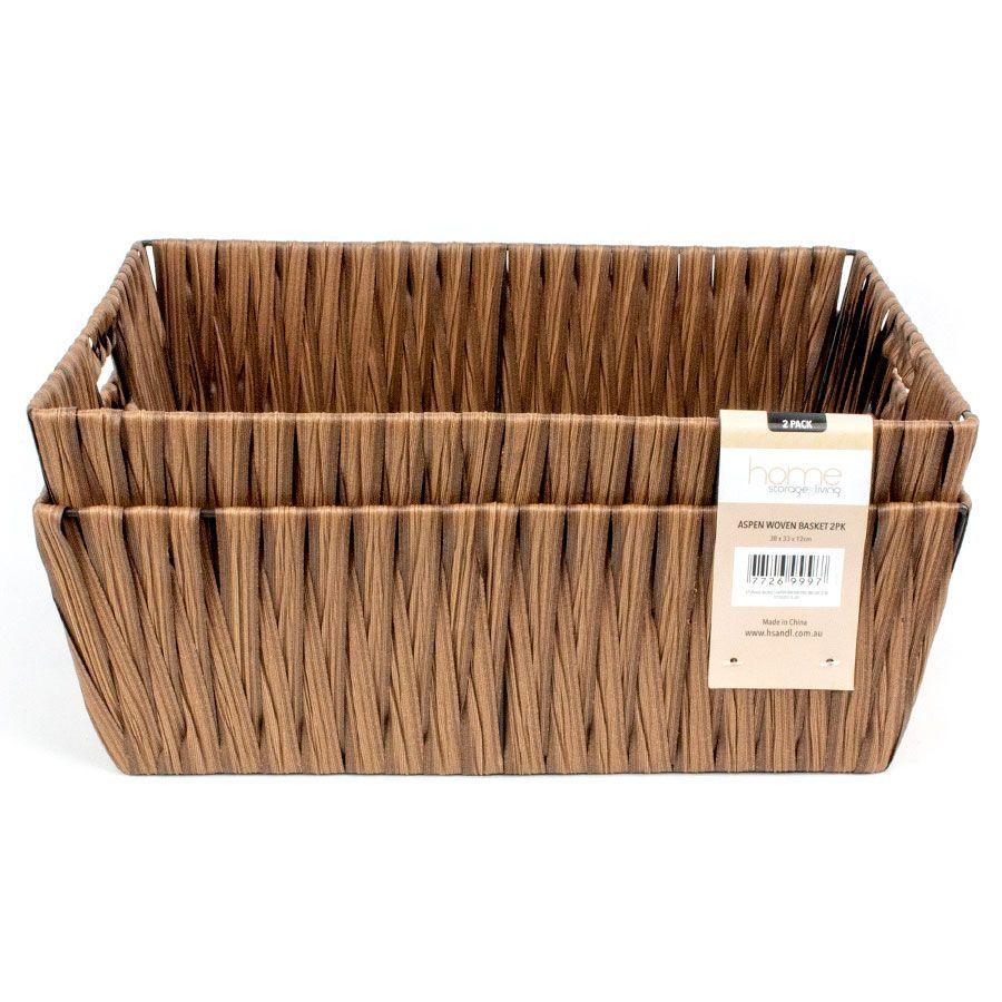 Aspen Storage Basket Brown - Set of 2 | Storage | Home Storage & Living