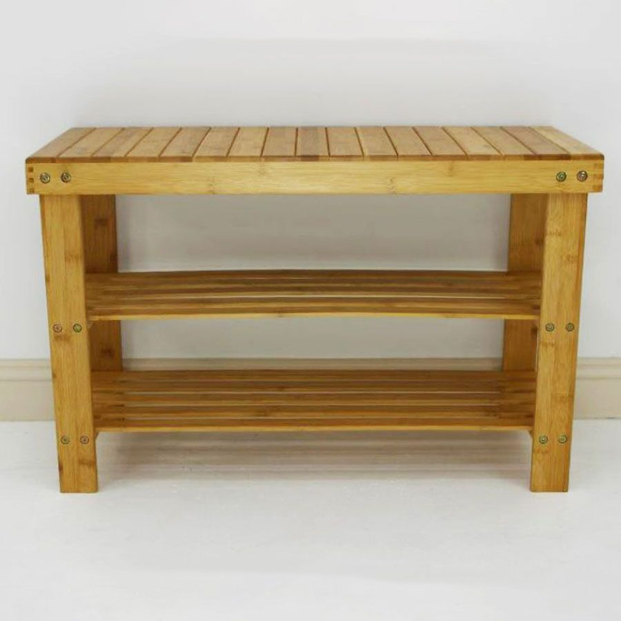 Bamboo Shoe Rack Bench 3 Tier | Furniture | Home Storage & Living