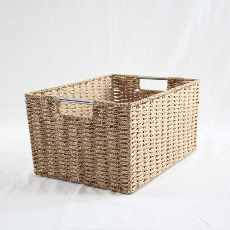 Chattel Storage Basket Beige Large | Storage Baskets & Hampers | Home Storage & Living