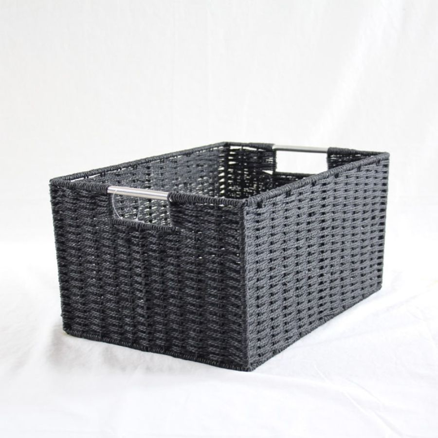Chattel Storage Basket Black Large | Storage Baskets & Hampers | Home Storage & Living