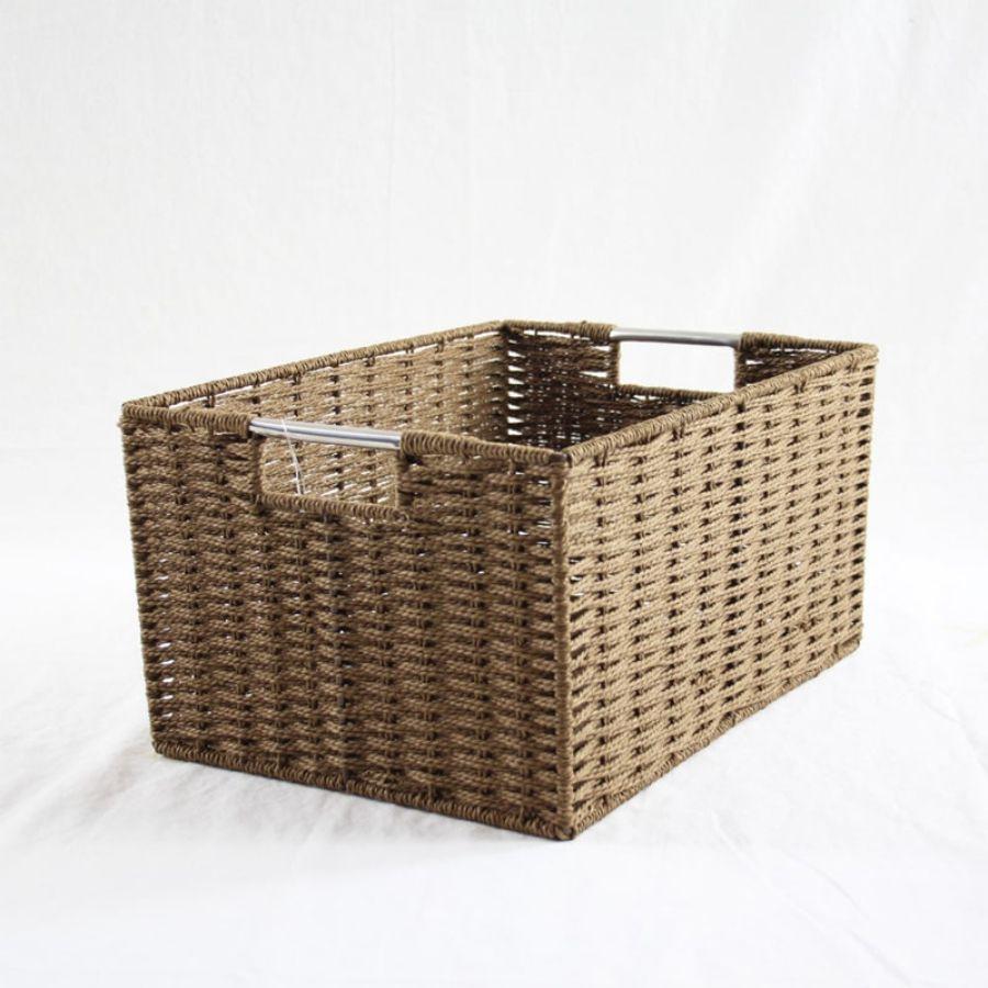 Chattel Storage Basket Brown Large | Storage Baskets & Hampers | Home Storage & Living