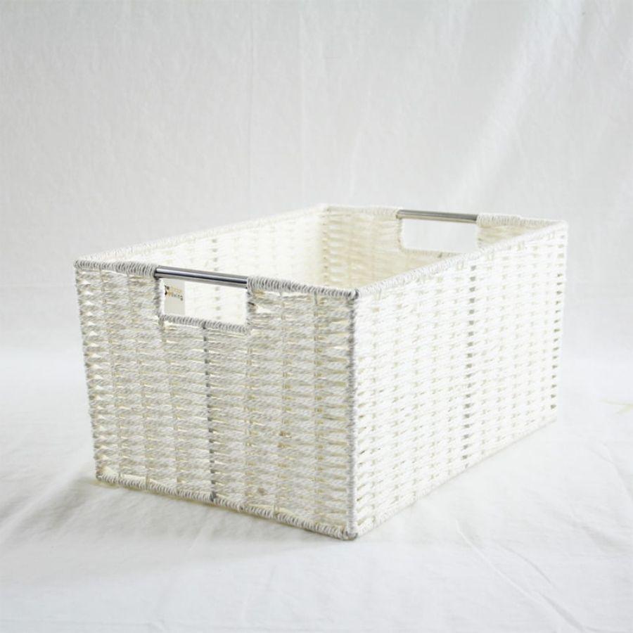 Chattel Storage Basket White Large | Storage Baskets & Hampers | Home Storage & Living