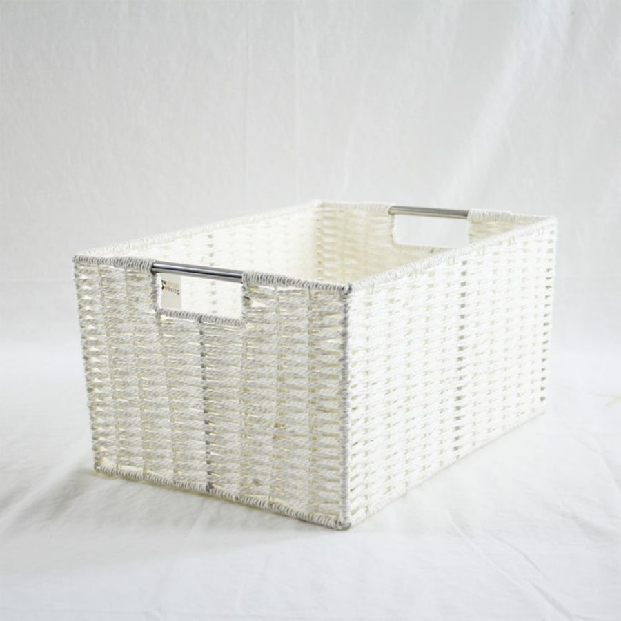 Chattel Storage Basket White XLarge | Storage Baskets & Hampers | Home Storage & Living
