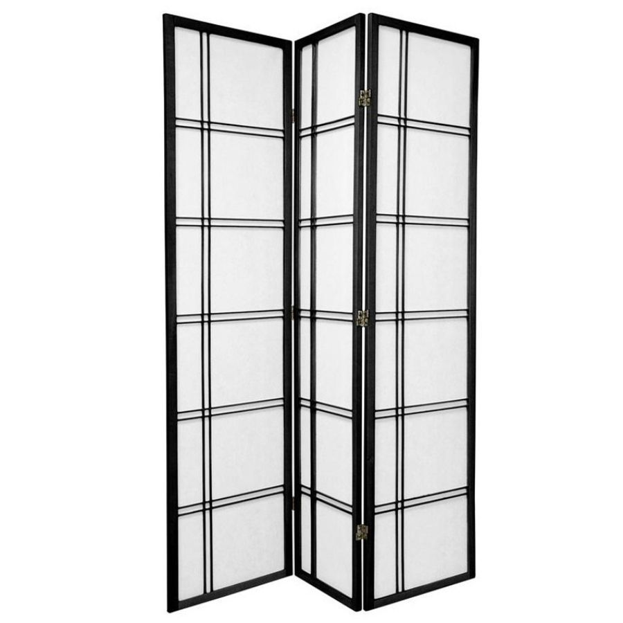 Cross Room Divider Screen Black 3 Panel | Room Dividers & Screens | Home Storage & Living