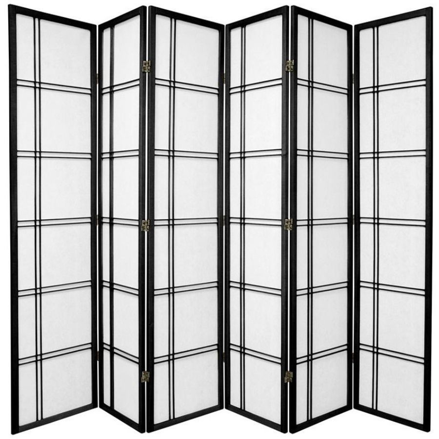 Cross Room Divider Screen Black 6 Panel | Room Dividers & Screens | Home Storage & Living