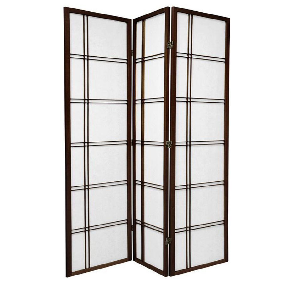Cross Room Divider Screen Brown 3 Panel | Room Dividers & Screens | Home Storage & Living