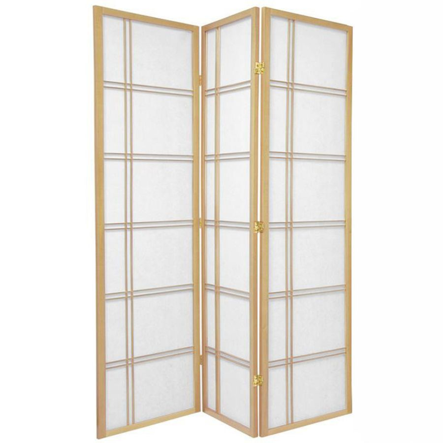 Cross Room Divider Screen Natural 3 Panel | Room Dividers & Screens | Home Storage & Living