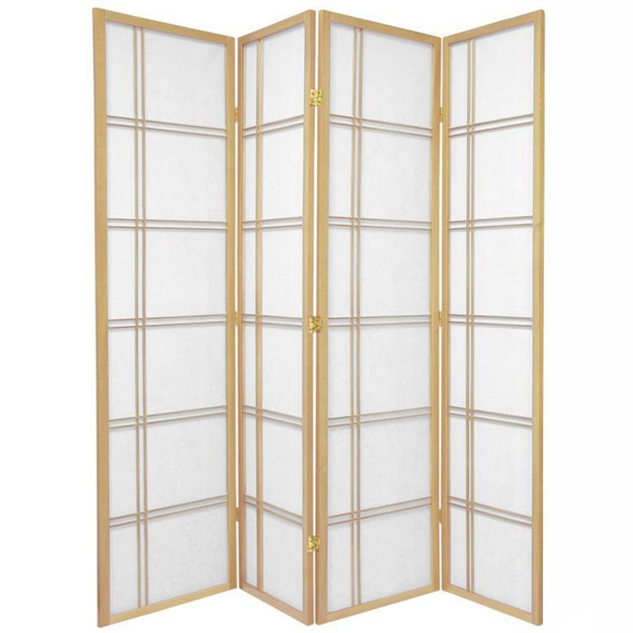 Cross Room Divider Screen Natural 4 Panel | Room Dividers & Screens | Home Storage & Living