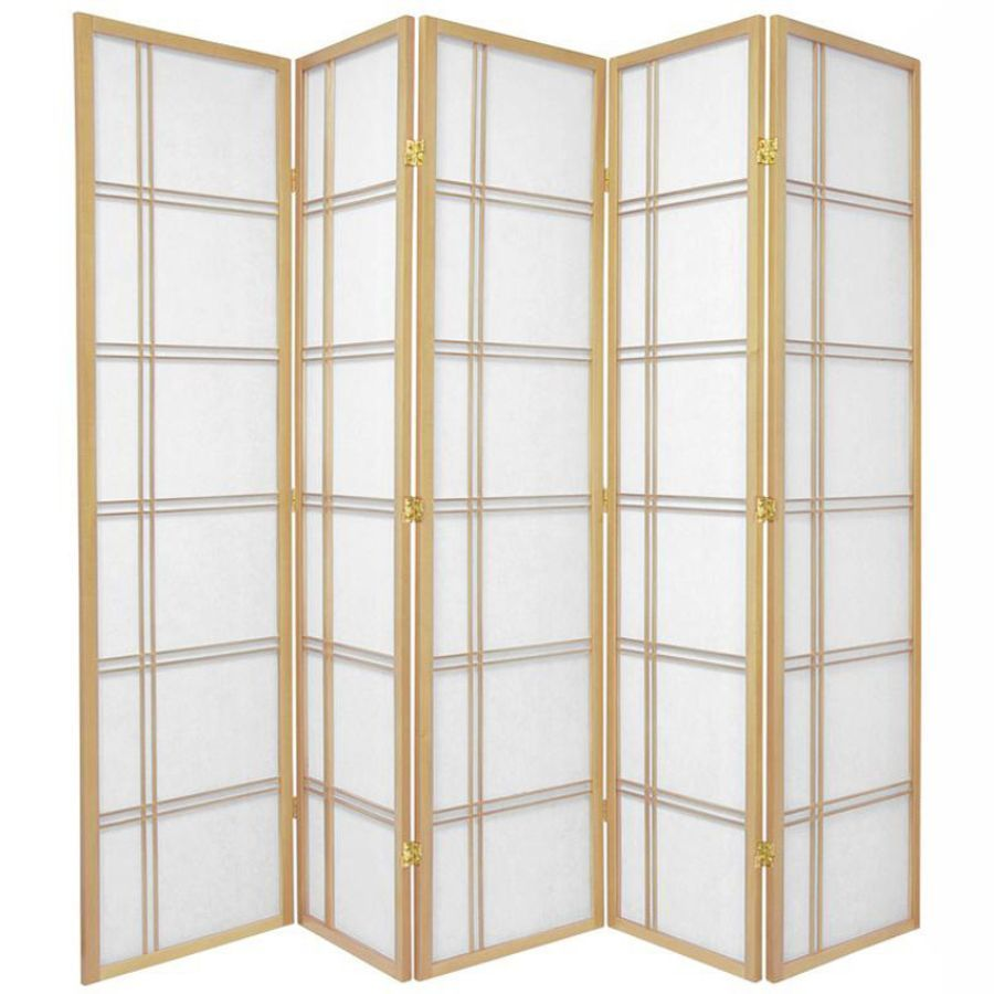 Cross Room Divider Screen Natural 5 Panel | Room Dividers & Screens | Home Storage & Living