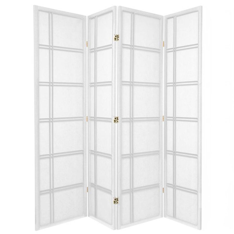 Cross Room Divider Screen White 4 Panel | Room Dividers & Screens | Home Storage & Living
