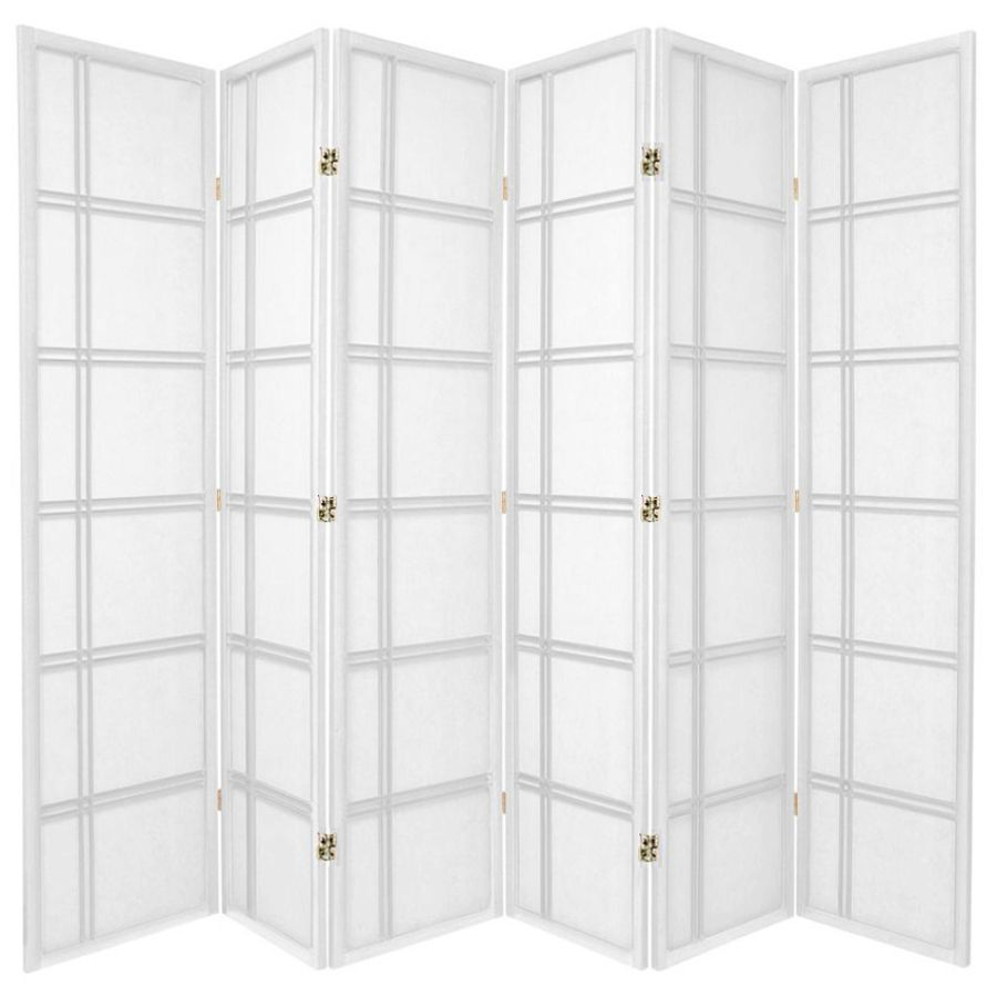 Cross Room Divider Screen White 6 Panel | Room Dividers & Screens | Home Storage & Living
