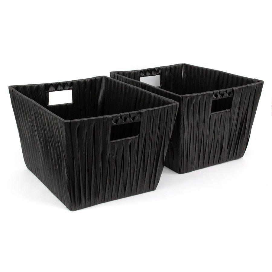 Hudson Storage Basket Black - Set of 2 | Storage | Home Storage & Living