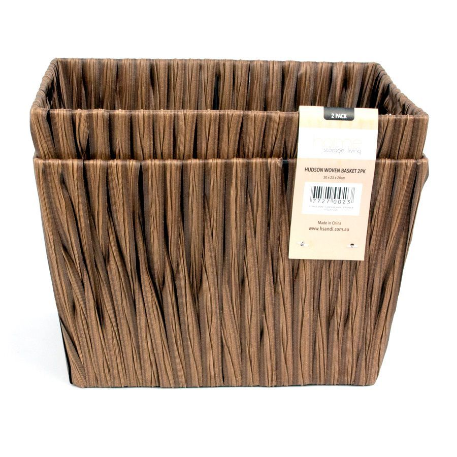 Hudson Storage Basket Brown - Set of 2 | Storage | Home Storage & Living