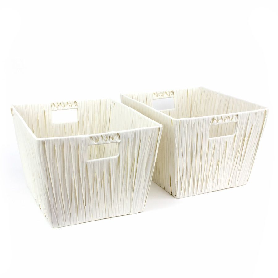 Hudson Storage Basket White - Set of 2   Storage   Home Storage & Living