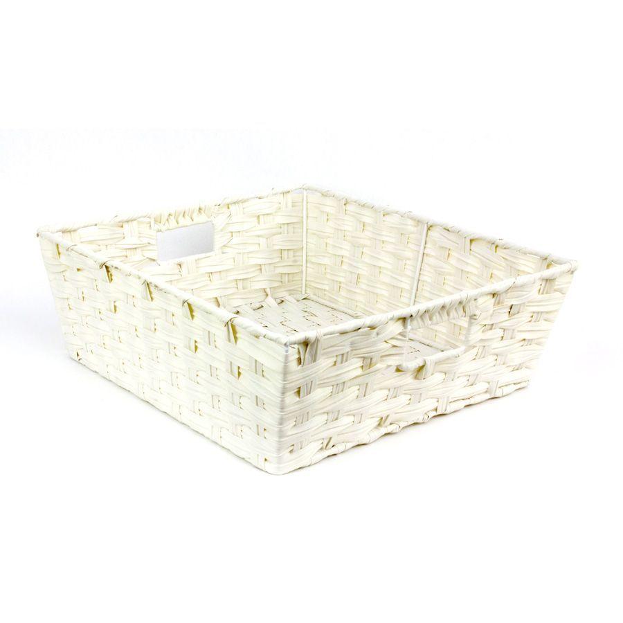 Kaia Storage Basket White | Home Storage & Living