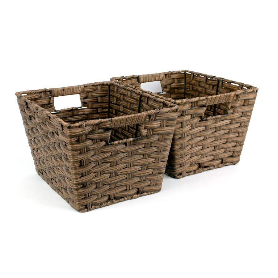 Kenu Storage Basket Brown - Set of 2 | Storage | Home Storage & Living