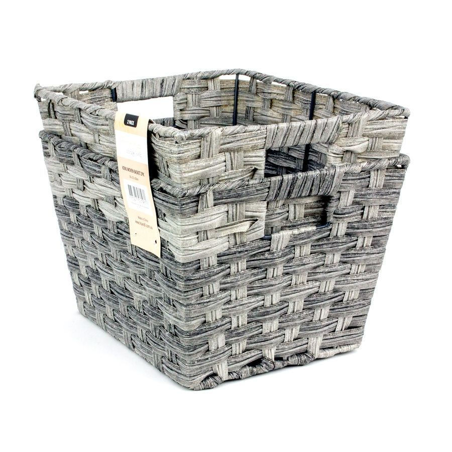 Kenu Storage Basket Grey - Set of 2 | Storage | Home Storage & Living