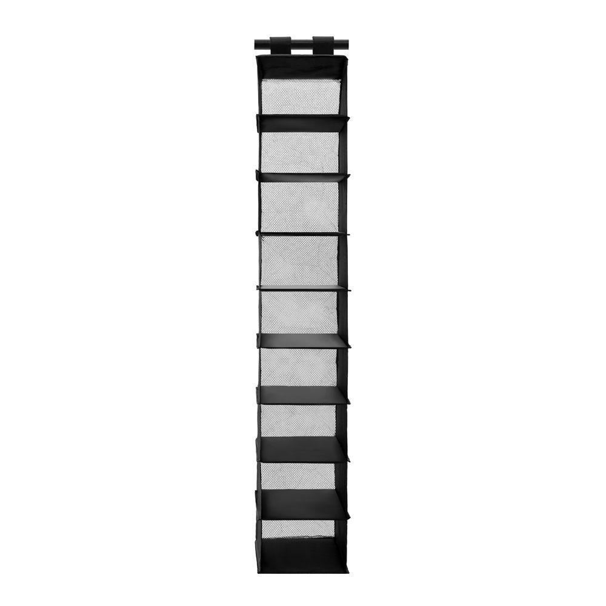 Kloset Soft Storage 9 Section Hanging Organiser Black 34 x 22 x 120cm | Home Storage & Living