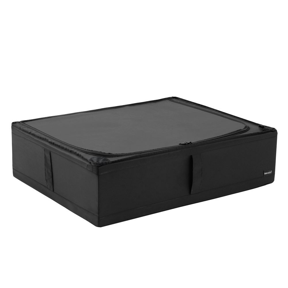 Kloset Soft Storage Chest with Zip Black 69 x 55 x 19cm | Home Storage & Living