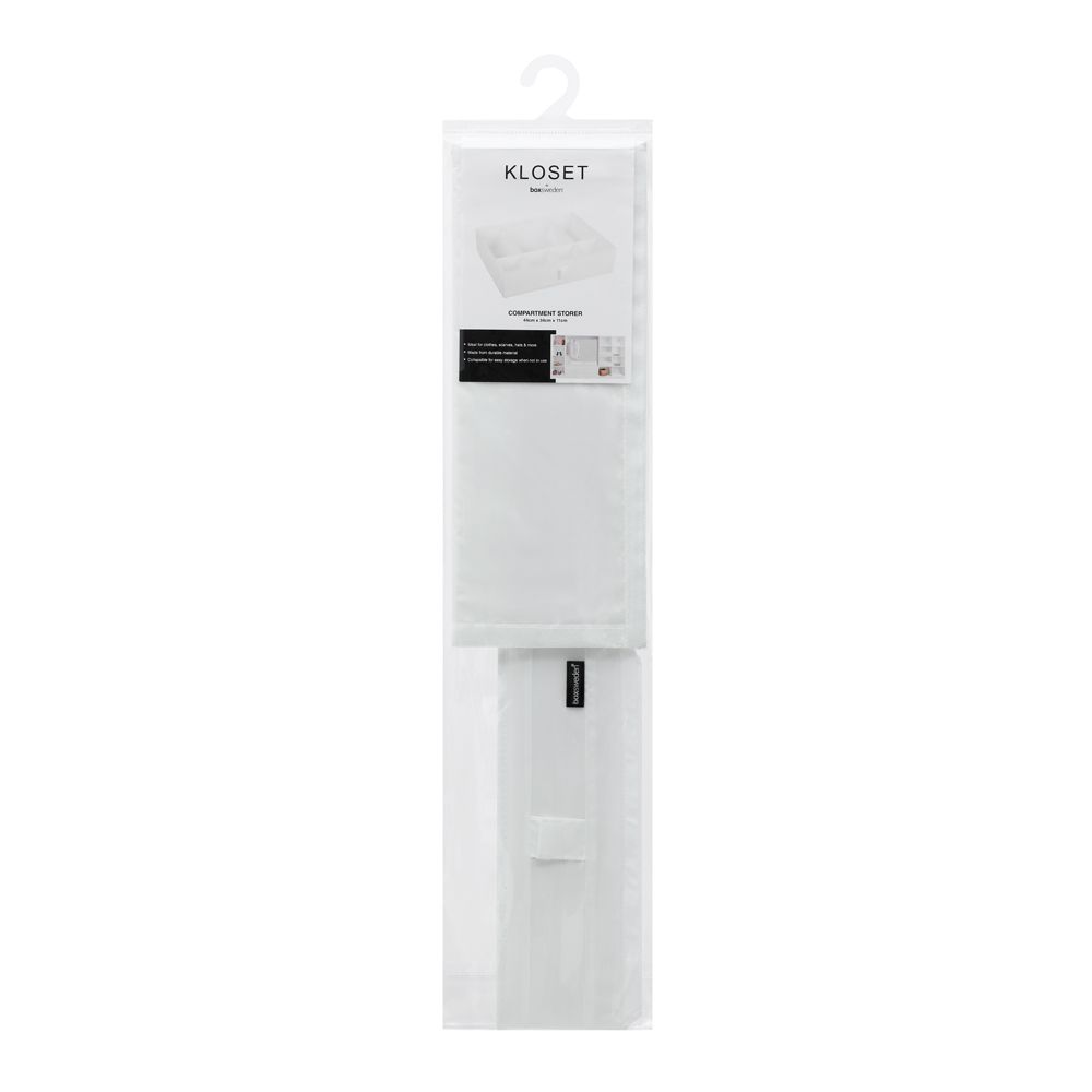 Kloset Soft Storage Compartment White 44 x 34 x 11cm   Home Storage & Living