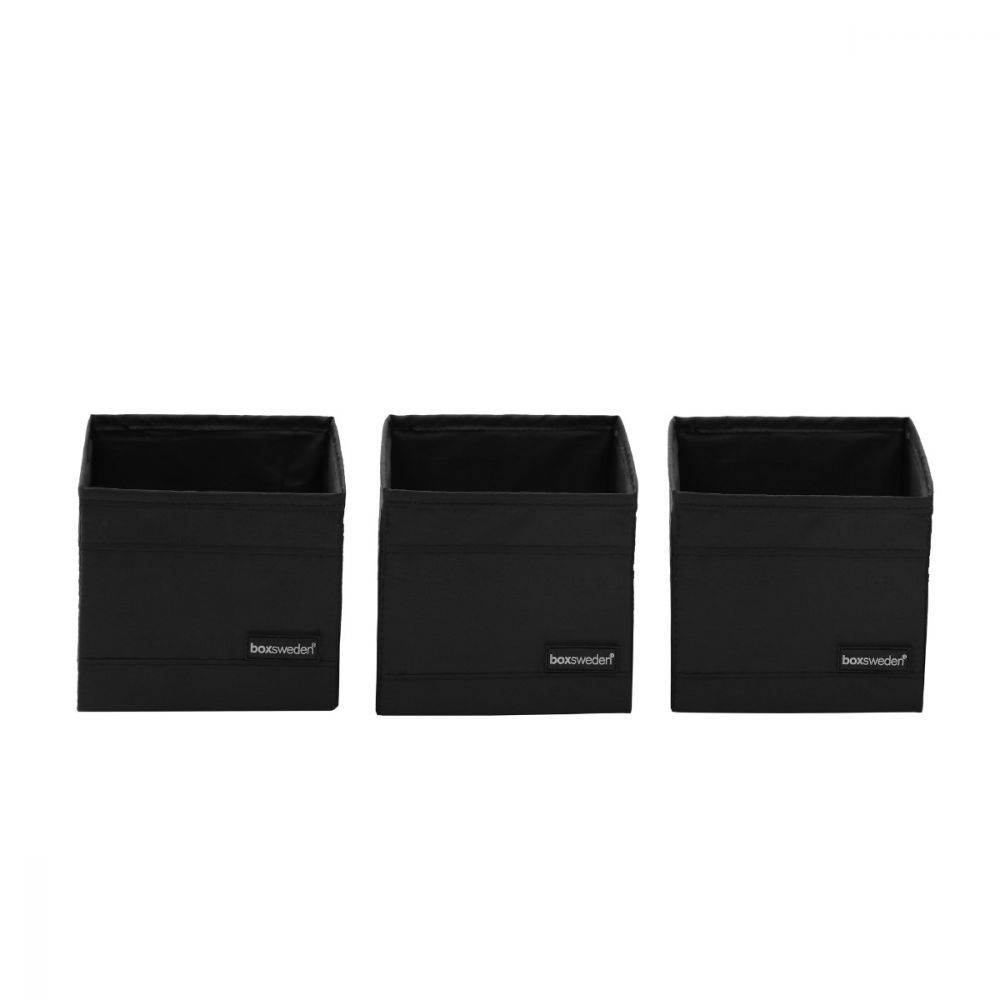Kloset Soft Storage Cube Black 3 Pack 14 x 14 x 13cm | Home Storage & Living
