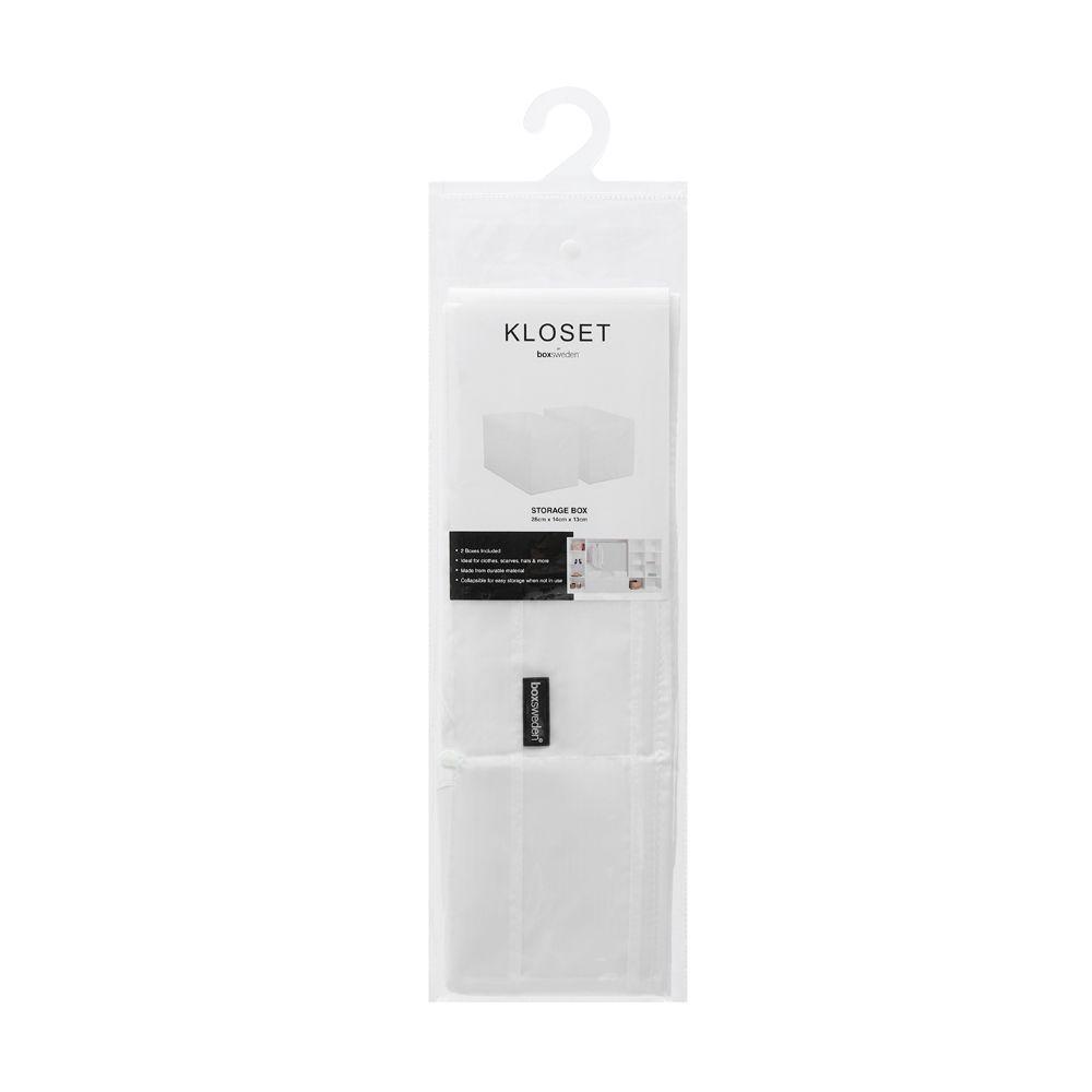 Kloset Soft Storage Rectangle White 2 Pack 28 x 14 x 13cm | Home Storage & Living
