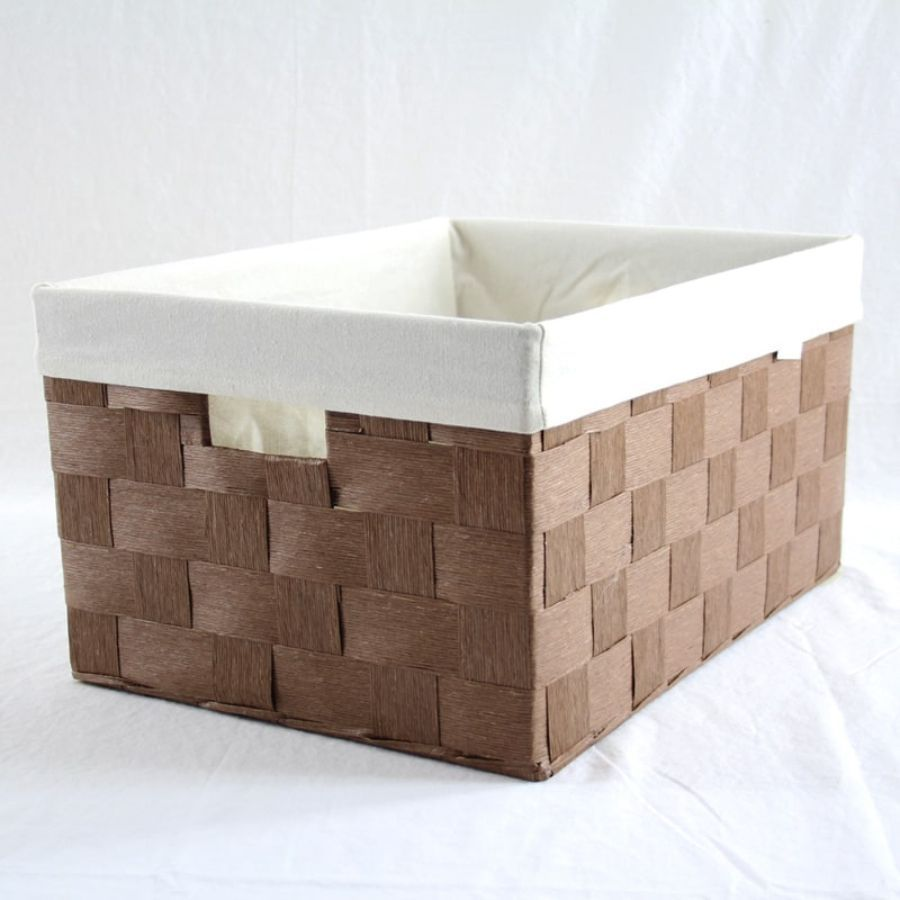 Linear Storage Basket Brown Medium | Storage Baskets & Hampers | Home Storage & Living