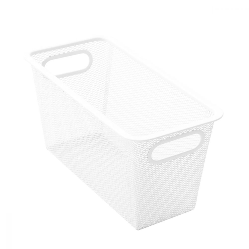 Mesh Storage Basket White 33 x 16 x 16cm | Storage Baskets | Home Storage & Living