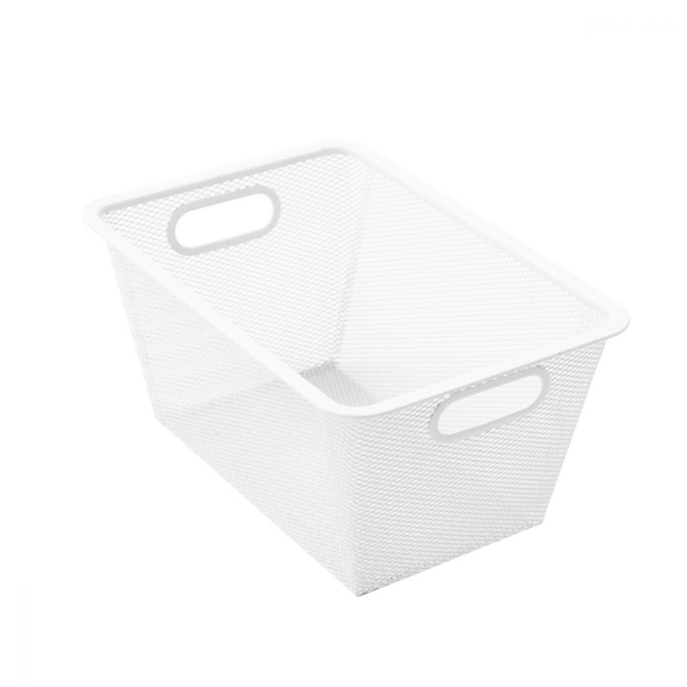 Mesh Storage Basket White 33 x 23 x 16cm | Storage Baskets | Home Storage & Living
