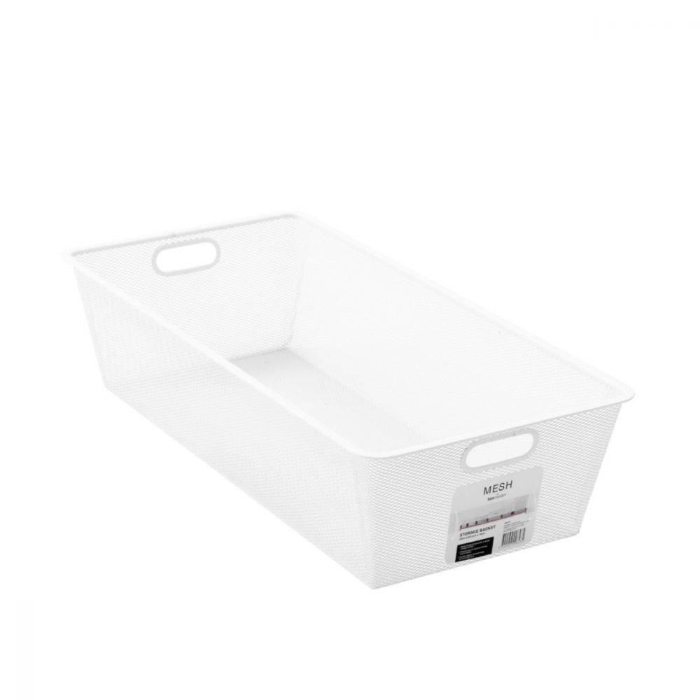 Mesh Storage Basket White 65.5 x 33 x 46cm | Storage Baskets | Home Storage & Living