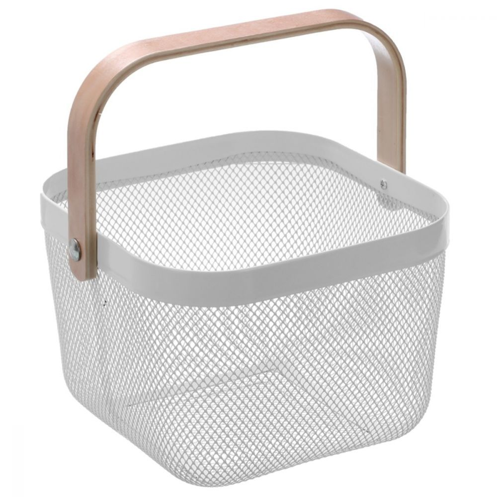 Mesh Storage Basket with Carry Handle White | Storage Baskets | Home Storage & Living