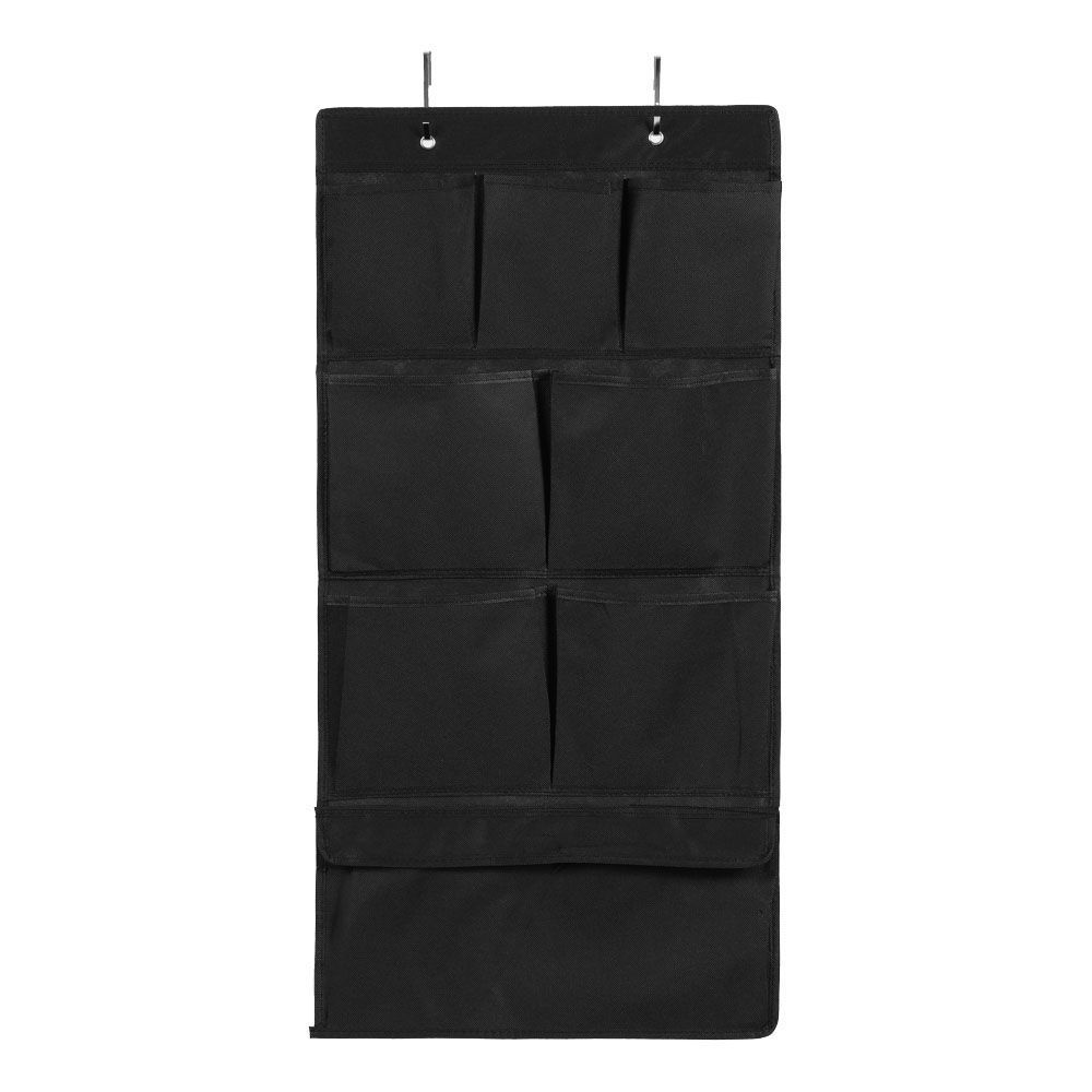 Mode Soft Storage 8 Pocket Hanging Wardrobe Black 40 x 80cm | Home Storage & Living