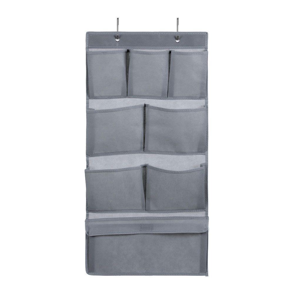 Mode Soft Storage 8 Pocket Hanging Wardrobe Grey 40 x 80cm | Home Storage & Living