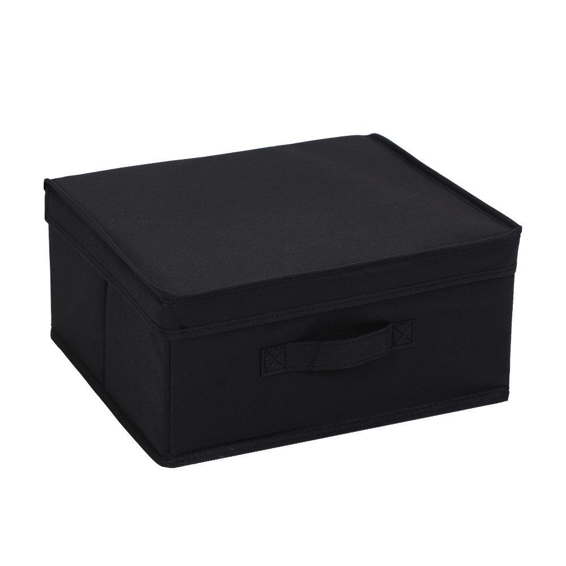 Mode Soft Storage Box with Lid Black 33 x 28 x 15cm | Home Storage & Living