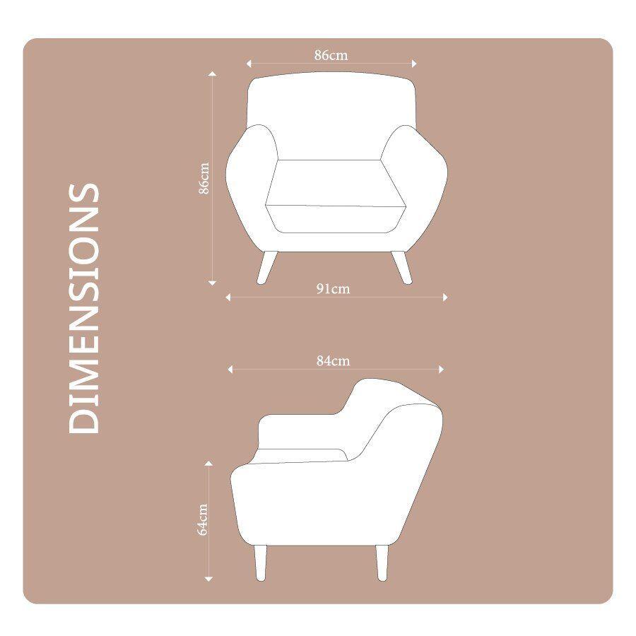Sally 1 Seat Armchair Aqua Blue | Furniture| Home Storage & Living