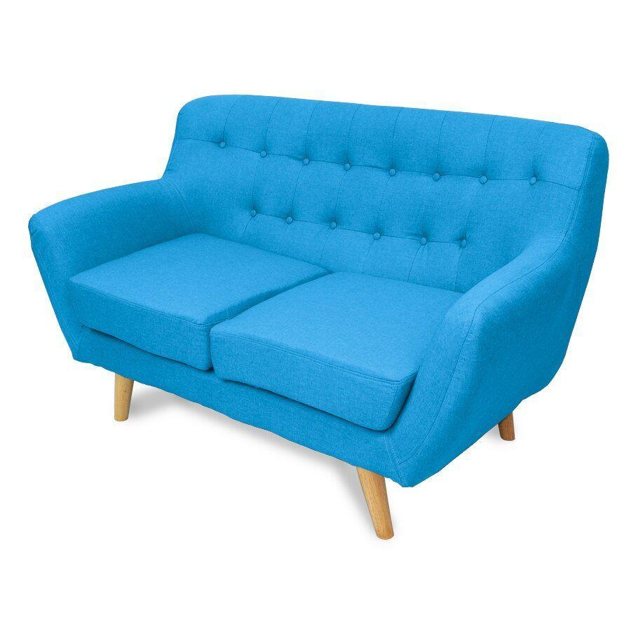 Sally 2 Seat Armchair Aqua Blue | Furniture| Home Storage & Living
