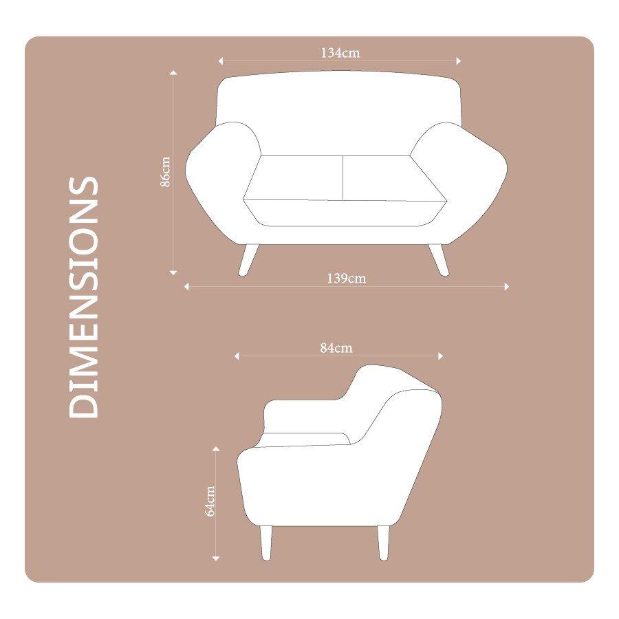 Sally 2 Seat Armchair Beige | Furniture| Home Storage & Living