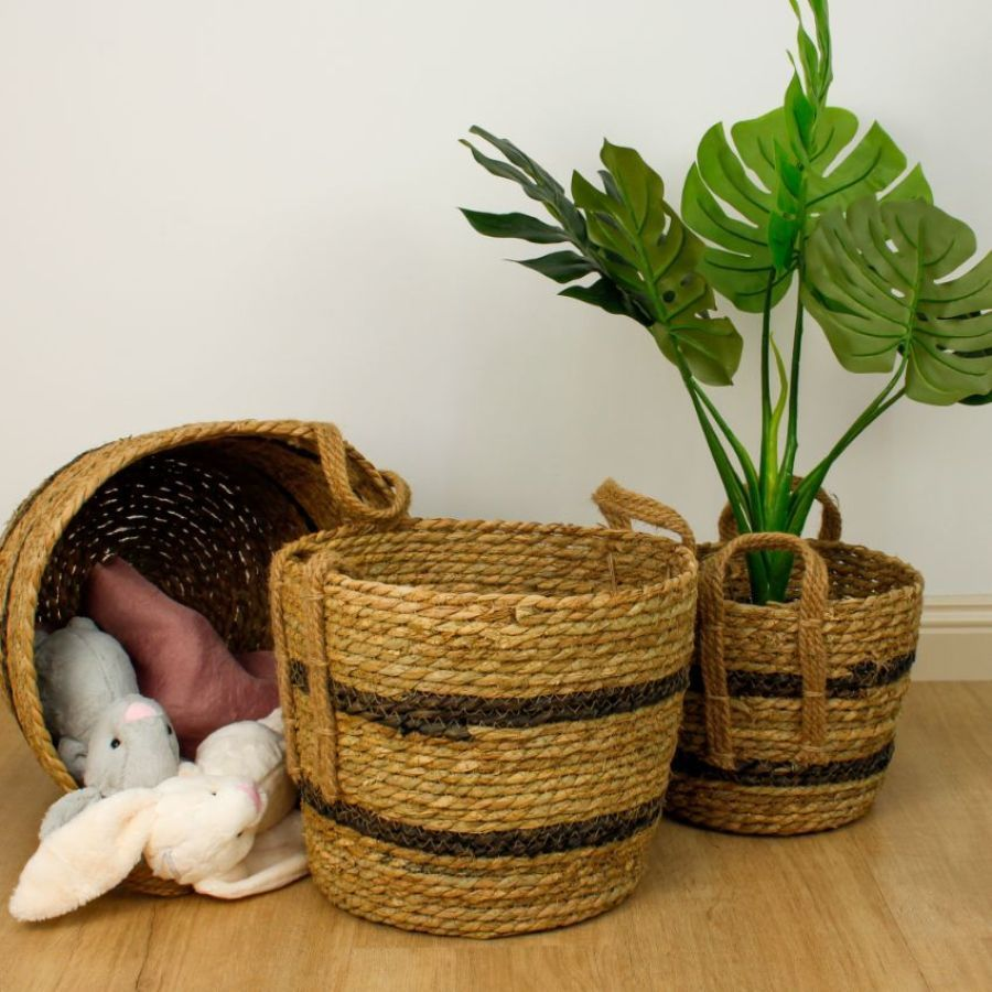 Seagrass Rope Storage Basket Natural Small | Home Storage & Living