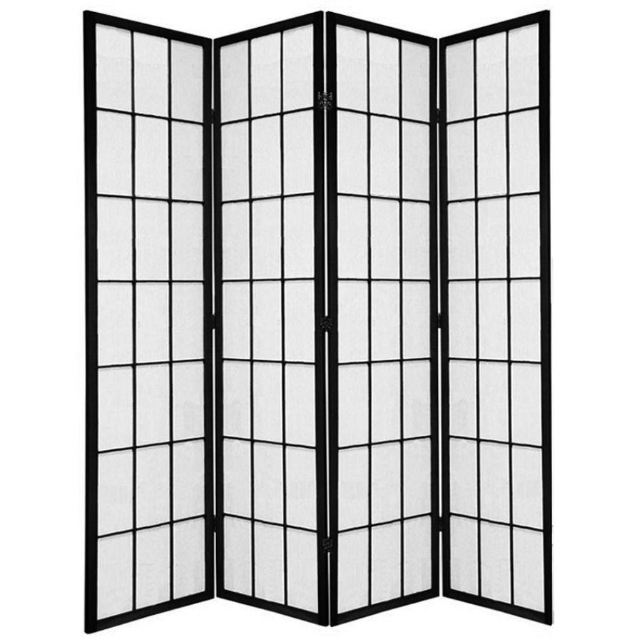 Shoji Room Divider Screen Black 4 Panel | Room Dividers & Screens | Home Storage & Living