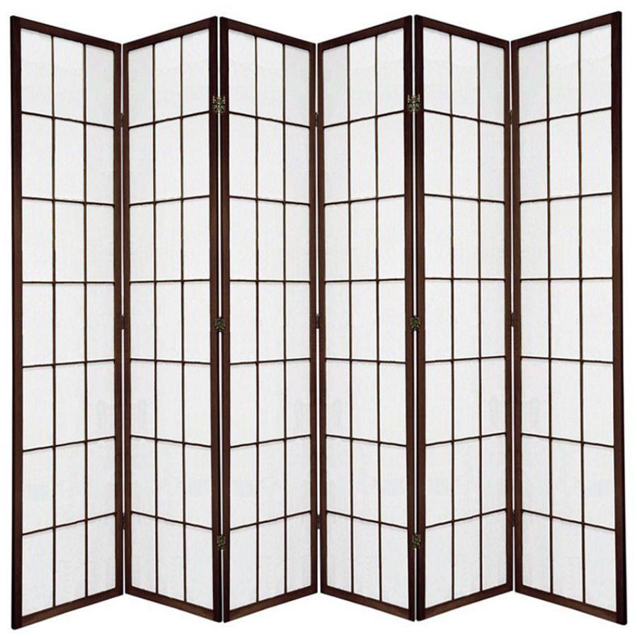 Shoji Room Divider Screen Brown 6 Panel | Room Dividers & Screens | Home Storage & Living
