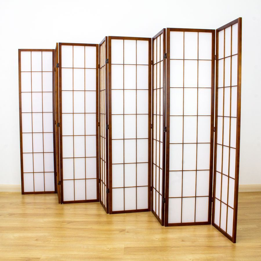 Shoji Room Divider Screen Brown 8 Panel | Room Dividers & Screens | Home Storage & Living