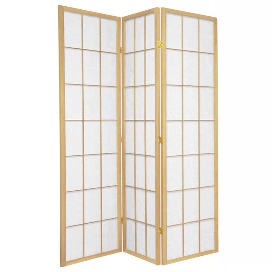 Shoji Room Divider Screen Natural 3 Panel | Room Dividers & Screens | Home Storage & Living