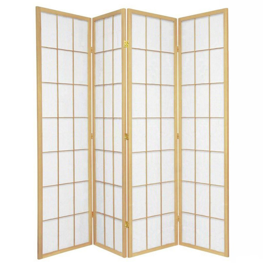 Shoji Room Divider Screen Natural 4 Panel | Room Dividers & Screens | Home Storage & Living