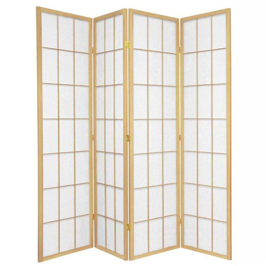 Shoji Room Divider Screen Natural 4 Panel   Room Dividers & Screens   Home Storage & Living