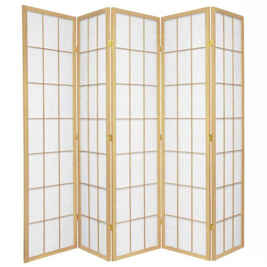 Shoji Room Divider Screen Natural 5 Panel | Room Dividers & Screens | Home Storage & Living