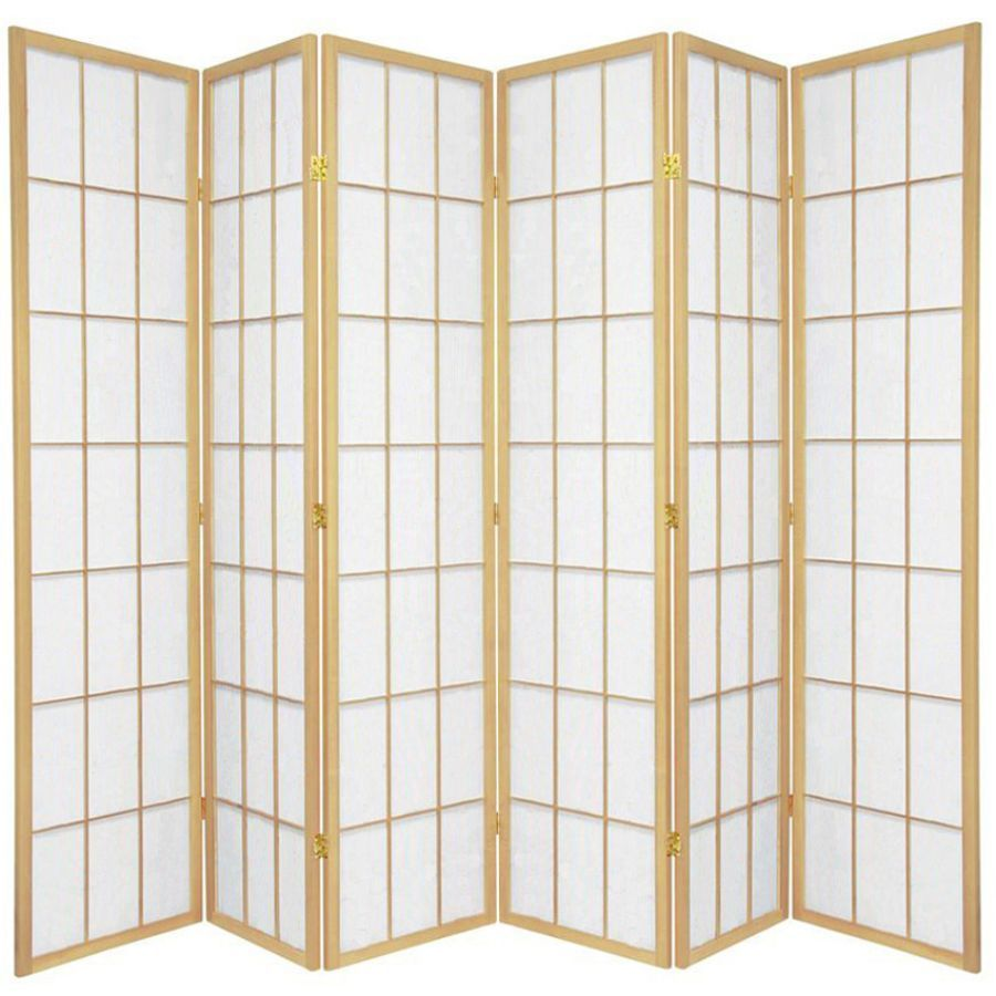 Shoji Room Divider Screen Natural 6 Panel | Room Dividers & Screens | Home Storage & Living