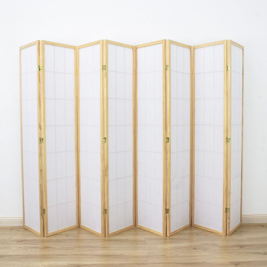 Shoji Room Divider Screen Natural 8 Panel | Room Dividers & Screens | Home Storage & Living