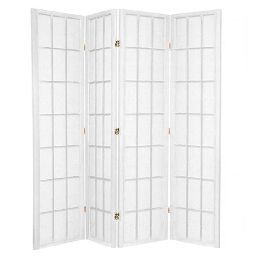 Shoji Room Divider Screen White 4 Panel | Room Dividers & Screens | Home Storage & Living