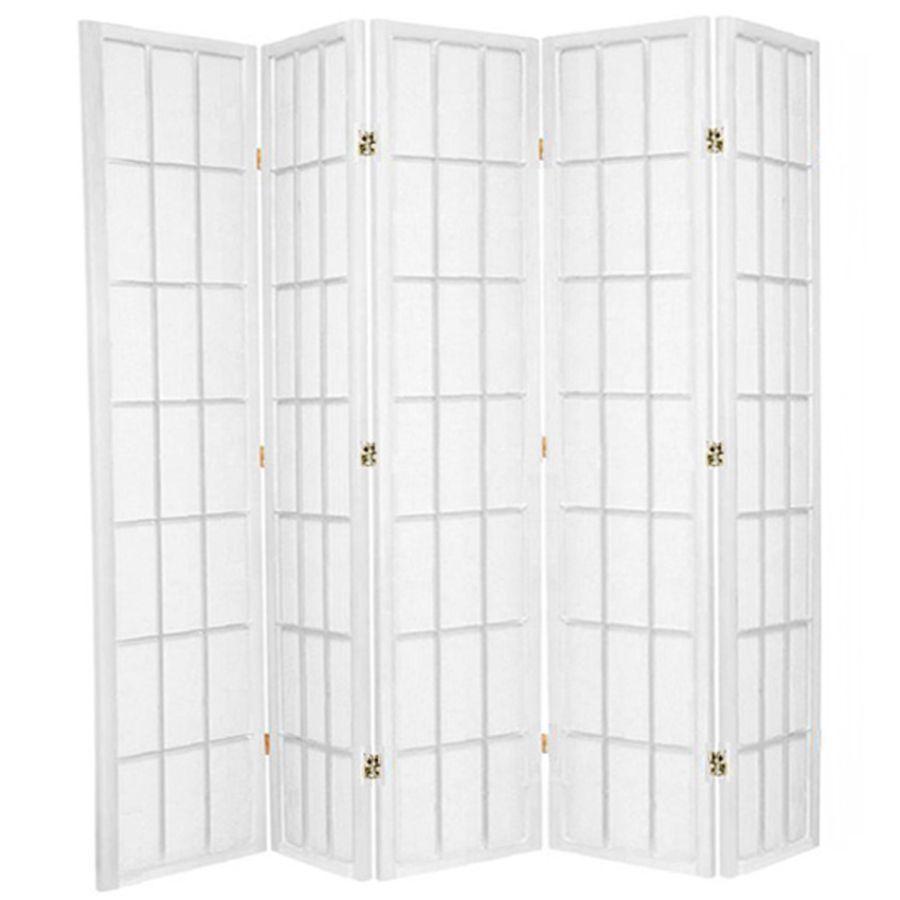 Shoji Room Divider Screen White 5 Panel | Room Dividers & Screens | Home Storage & Living